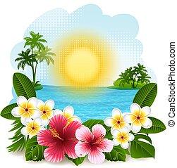 Tropische Landschaft.