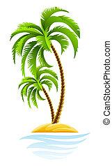 Tropische Palme auf der Insel.