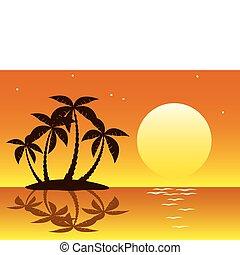 Tropische Palminsel
