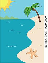 Tropische Strand-Illustration