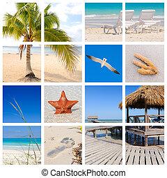 Tropische Strandkollage