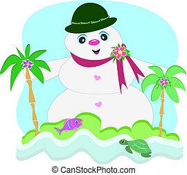 Tropischer Schneemann