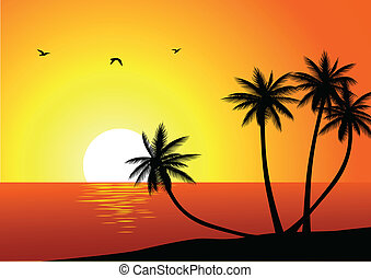 Tropischer Strandhintergrund