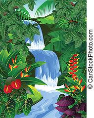 Tropischer Wald Hintergrund