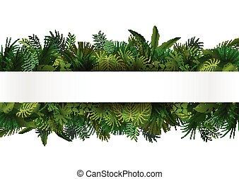 Tropisches Foliage. Floral Design