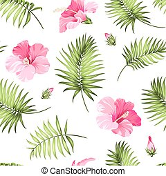 Tropisches, nahtloses Muster.