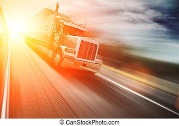 Truck auf der Autobahn.