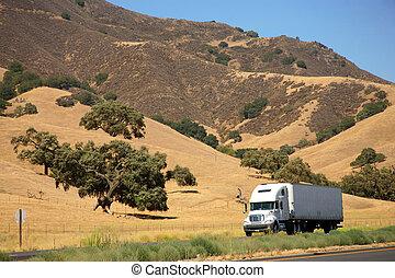 Truck auf der Autobahn