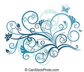 Turquoise-Foraldesignelement