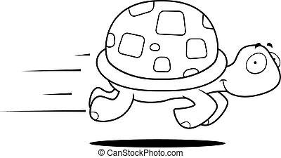 Turtle läuft.