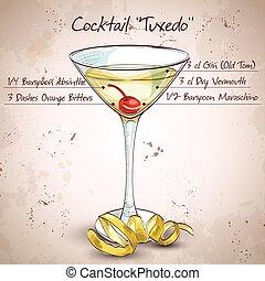 Tuxedo-alkoholischer Cocktail.