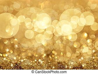 Twinkley Lichter und Sterne Weihnachten Hintergrund.