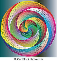 Twirl, bunter Regenbogenkreise