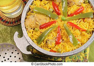 Typisch kubanisches Gericht