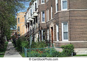 Typische Straße in Chicago
