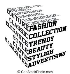 Typografie mit Modebegriffen