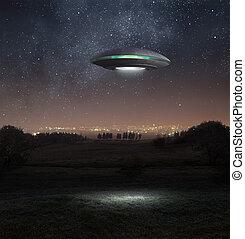 ufo, nacht