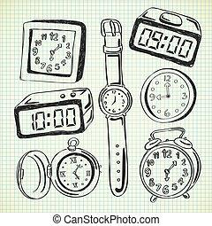 Uhr-Doodle