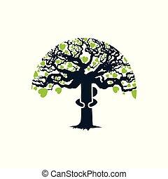 Umarme den Baum.