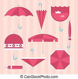 Umbrella icons