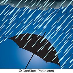 Umbrella Schutz vor starkem Regen.