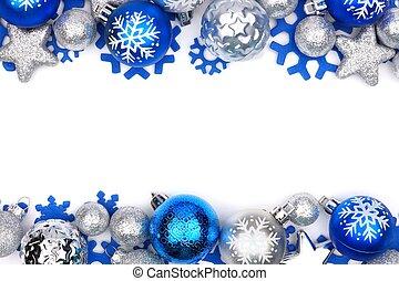 umrandungen, verzierung, aus, weihnachten, weißes, doppelgänger, silber, blaues