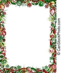 umrandungen, weihnachten, festlicher