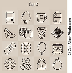 Umriss-Icons Set 2.