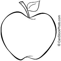 Umrissener Apfel.