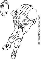 Umrissener Football-Junge