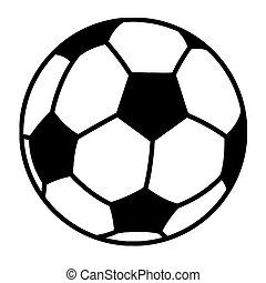 Umrissener Fußball