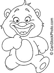 Umrissener Teddybär