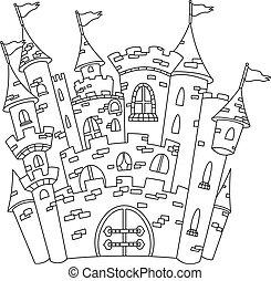 Umrissiges Schloss