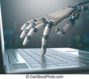 Umstellung von Menschen durch Maschinen