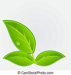 Umwelt-Ikone mit Pflanzen. Vektor Illustration