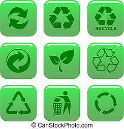 Umwelt- und Recycling-Ikonen