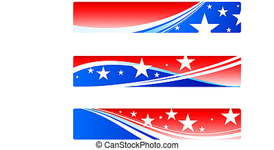 Unabhängigkeitstag, patriotische Banner