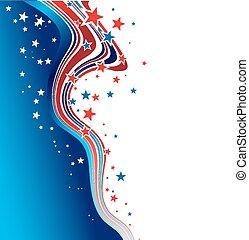 Unabhängigkeitstag, patriotischer Hintergrund.