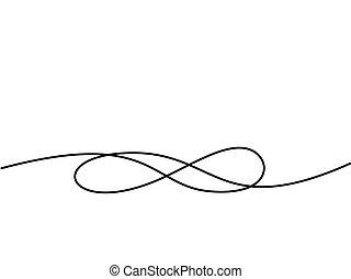Unendliches Symbol. Kontinuierliche Zeichnung