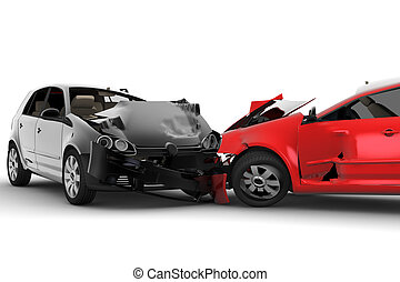 Unfall mit zwei Autos