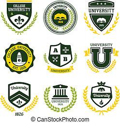 Universität und College Crests