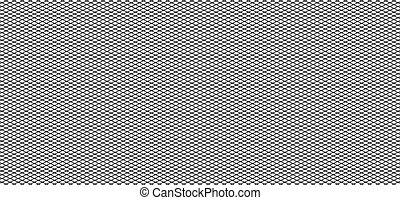 Unregelmäßiges Gitter, Maschenmuster, abstrakte monochrome geometrische Textur.