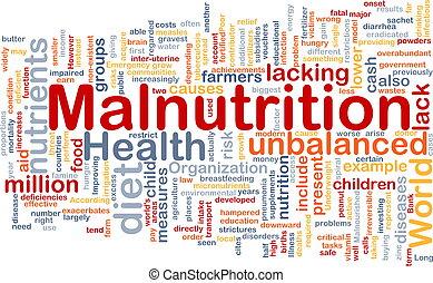 Unterernährung.