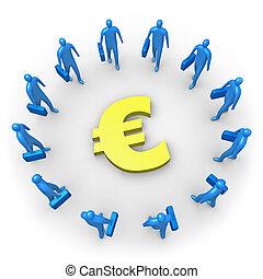 Unternehmenseinkommen - Euro