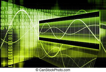 Unternehmenstechnologie abstrakt