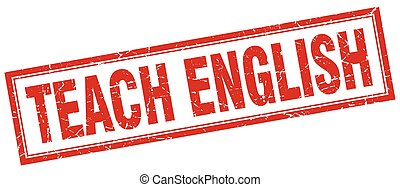 unterrichten, englisches , briefmarke, quadrat