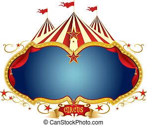 Unterschreiben Sie den Zirkus