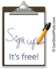 Unterschreiben Sie kostenloses Clipboard-Website Icon