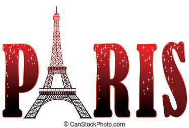 Unterschreiben Sie Paris mit Eiffelturm