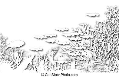 Unterwasser-Ausschnitt